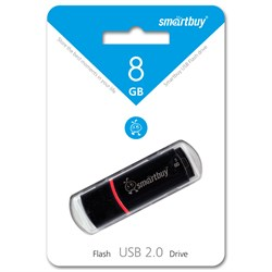 USB флэшка 8GB Smart Buy Crown Black (R 15Mb/s, W 5Mb/s) - фото 4791