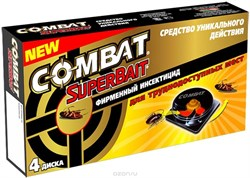 Ловушки от тараканов COMBAT SuperBait 4шт /6282/ (HKL6018) - фото 8470