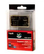 Картридер HAVIT HV-C25, black+gold 6 in 1 (MicroSD/SD/MSDuo/M2/XD/CF)