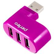 USB-Хаб Perfeo 3 порта (PF-VI-H024 Pink)