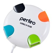 USB-Хаб Perfeo 4 порта (PF-VI-H020 White)