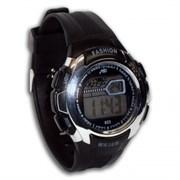 Часы наручные спортивные каучук (108) черные