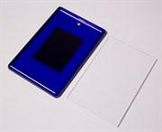 Магнит акриловый , прямоугольник 55*80мм , синий